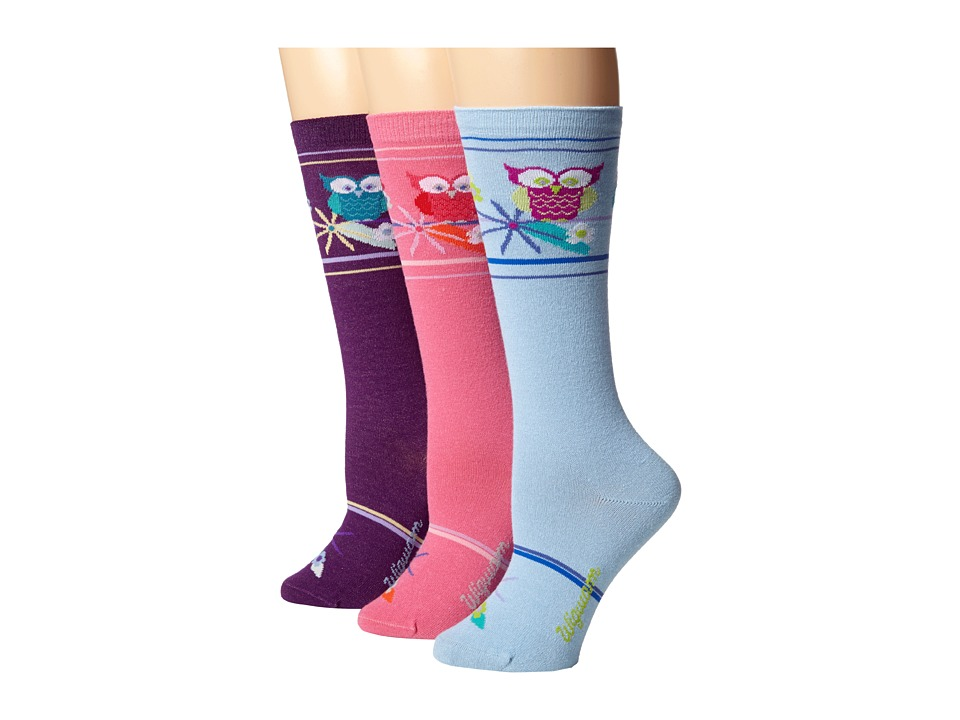 Wigwam - Hootie 3-Pair Pack (Notting Blue/Deep Plum/Rose) Women's Crew Cut Socks Shoes