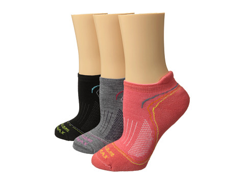 Wigwam - Tech Pro Low 3-Pair Pack (Rose/Grey/Black) Women's Crew Cut Socks Shoes