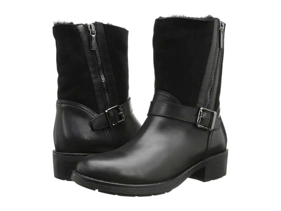 Aquatalia - Saphire (Black Calf w/ Shearling) Women