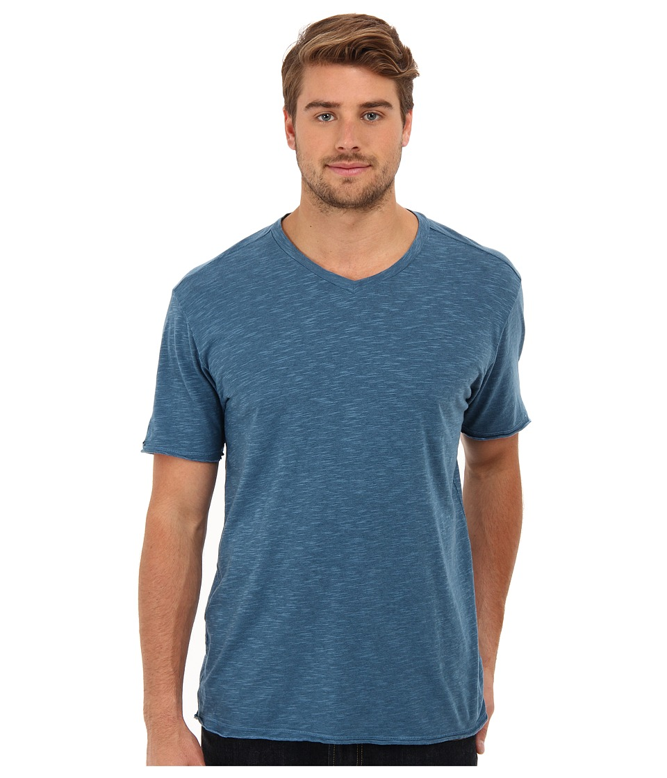 Agave Denim - Tencel Slub V Neck (Blue Ashes) Men