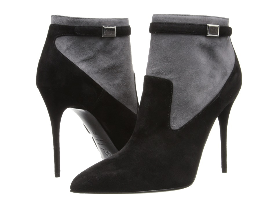 Image of Alexander McQueen - 360706 WHAAC 1026 (Black/Grey) Women's Zip Boots