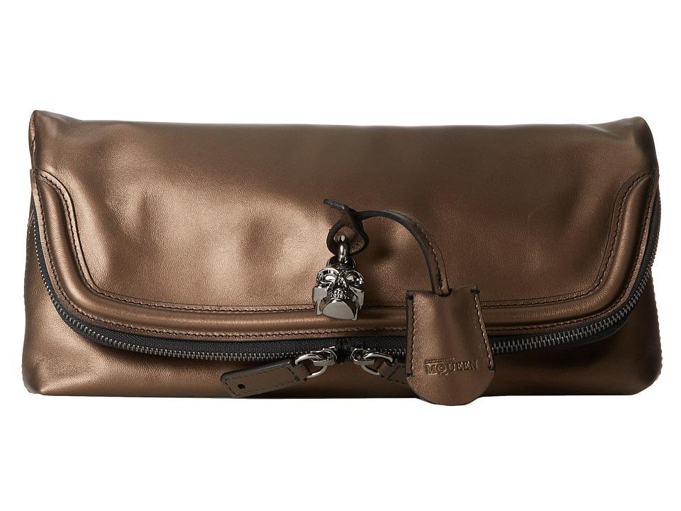 Alexander McQueen - Padlock Clutch (Bronze) Clutch Handbags