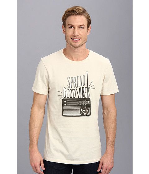 Life is good - Good Vibes Radio Newbury Tee (Putty White) Men