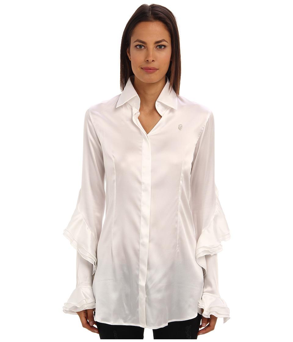Philipp Plein - Blouse Dress (White) Women's Blouse