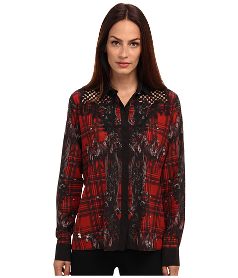 Philipp Plein - Shirt Cosy (Red) Women's Long Sleeve Button Up