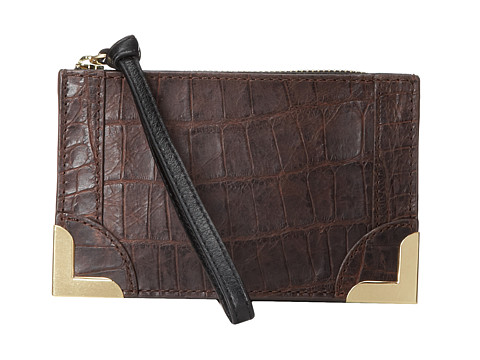 Foley & Corinna - Framed Wristlet Pouch (Brownie Croc) Wristlet Handbags