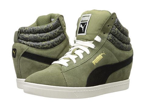 PUMA - PC Wedge NC (Burnt Olive) Women's Classic Shoes