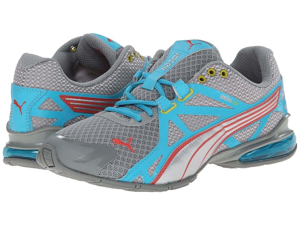 PUMA - Voltaic 5 (Limestone Gray/Scuba Blue/Dubarry) Women's Shoes