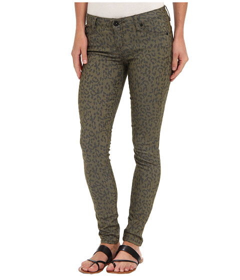 Hurley - 81 Skinny Twill Legging (Rough Green Leopard) Women's Casual Pants