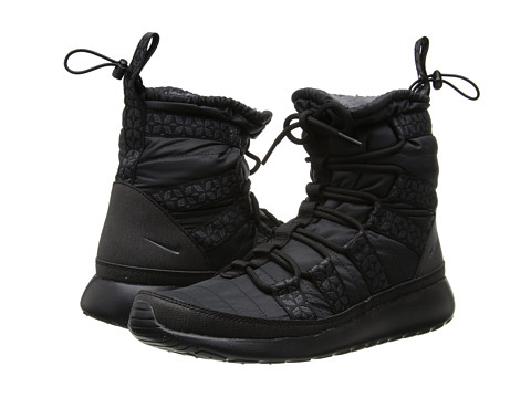 Nike - Roshe Run Hi Sneaker Boot (Black/Anthracite) Women