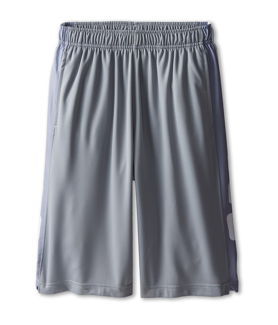 Nike Kids - Elite Stripe Short (Little Kids/Big Kids) (Wolf Grey/White/White) Boy