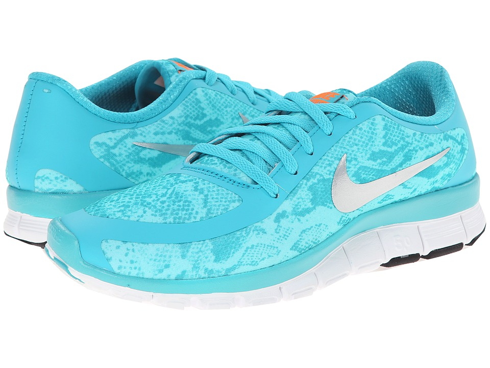 Nike - Free 5.0 V4 (Dusty Cactus/Bleached Turquoise/White/Metallic Silver) Women