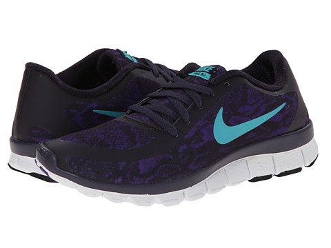 Nike - Free 5.0 V4 (Court Purple/Cave Purple/White/Hyper Jade) Women's Shoes