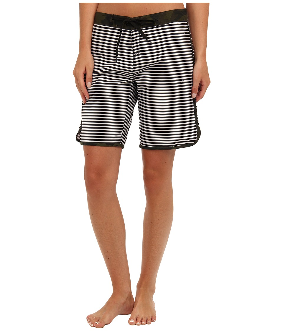 Hurley - Supersuede Printed 9 Beachrider (Black Mini Stripe) Women's Swimwear