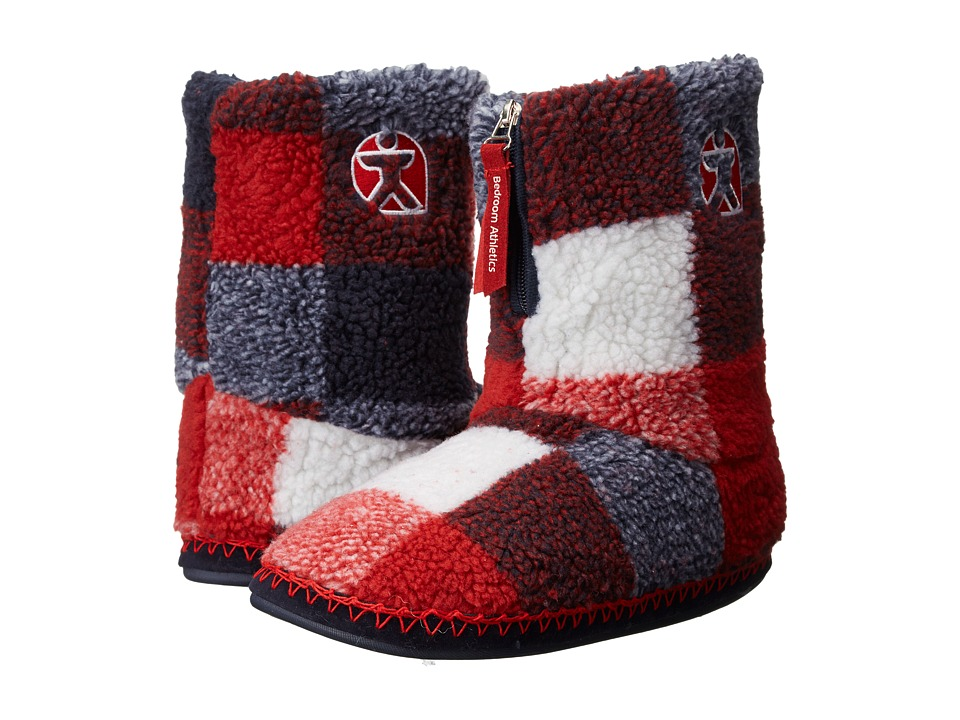 Bedroom Athletics - McQueen (Red/Navy Check) Men's Slippers
