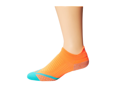 Nike - Elite Running Cushion No-Tab (Hyper Crimson/Hyper Jade/Hyper Jade) No Show Socks Shoes