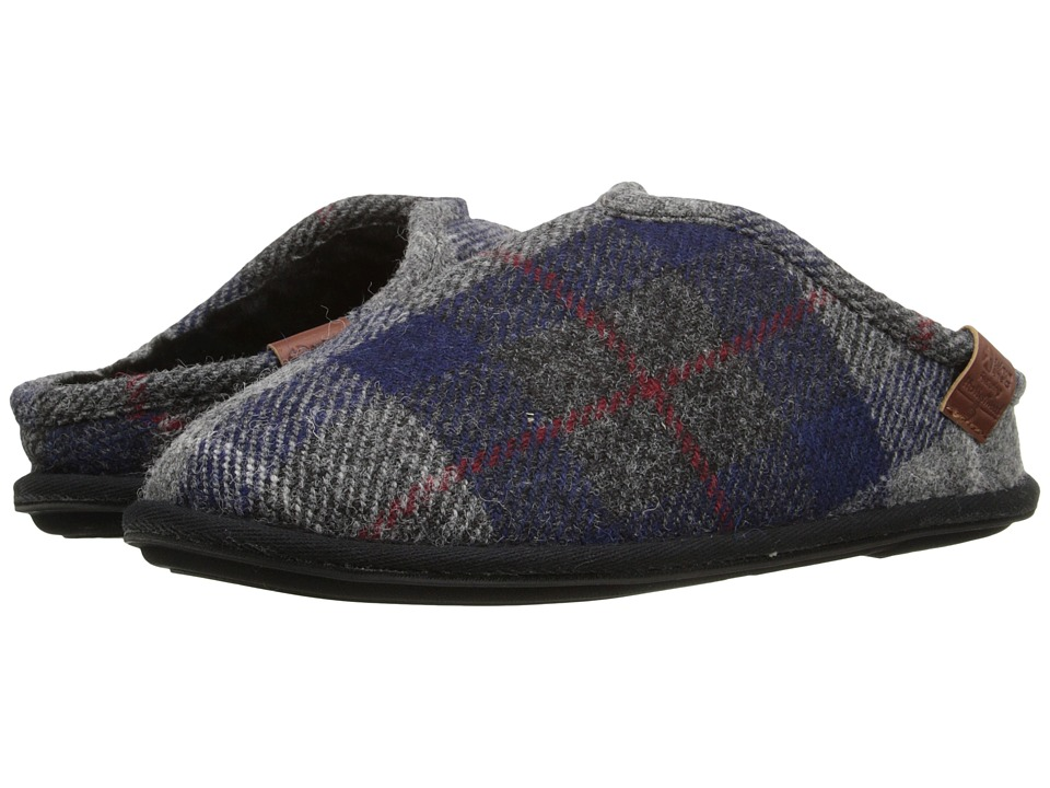 Bedroom Athletics - William Harris Tweed (Navy/Black Check) Men's Slippers
