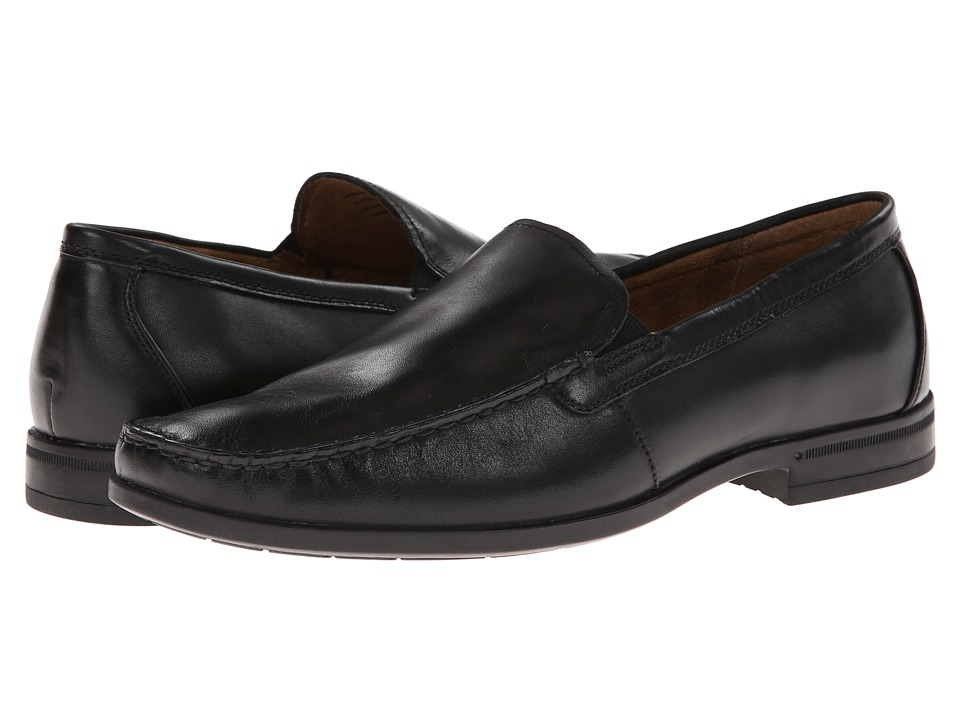 Nunn Bush Glenwood Slip-On Dress Casual (Black) Men