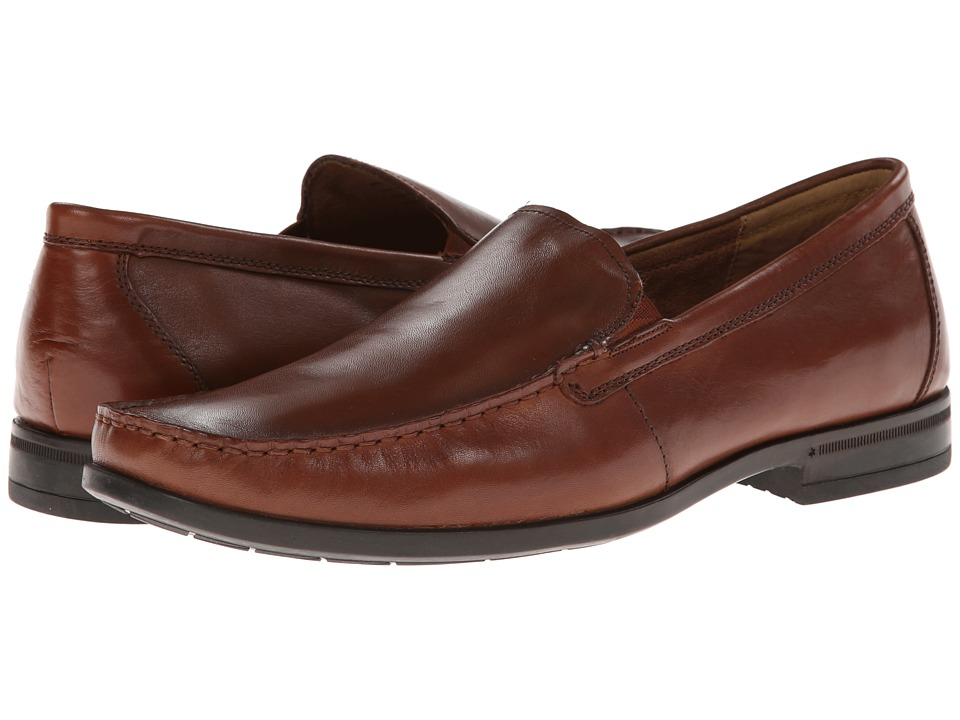 Nunn Bush Glenwood Slip-On Dress Casual (Cognac) Men