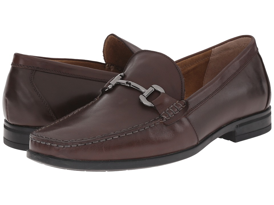 Nunn Bush - Glendale Bit Slip-On Dress Casual (Brown) Men's Slip-on Dress Shoes
