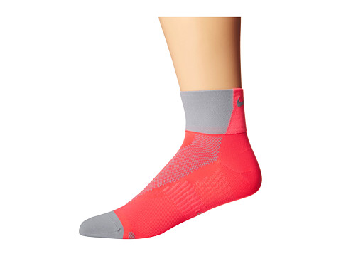 Nike - Hyper-Lite Convertible Quarter (Wolf Grey/Hyper Punch/Wolf Grey) Quarter Length Socks Shoes