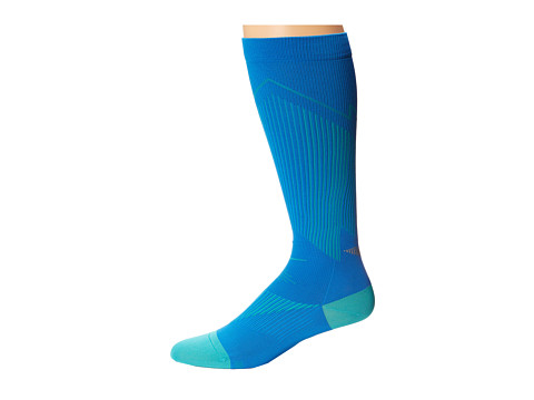 Nike - Elite Running Graduated (Photo Blue/Hyper Jade/Hyper Jade) Knee High Socks Shoes