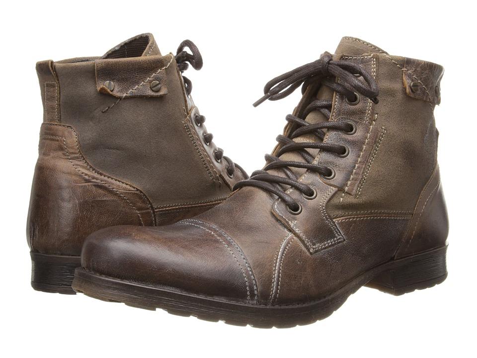 Type Z - Ballard (Brown Leather) Men's Zip Boots
