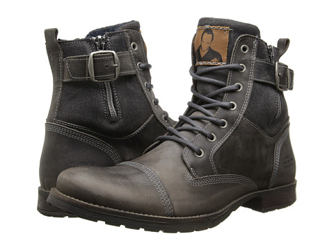 Type Z - Covington (Grey Leather) Men's Zip Boots