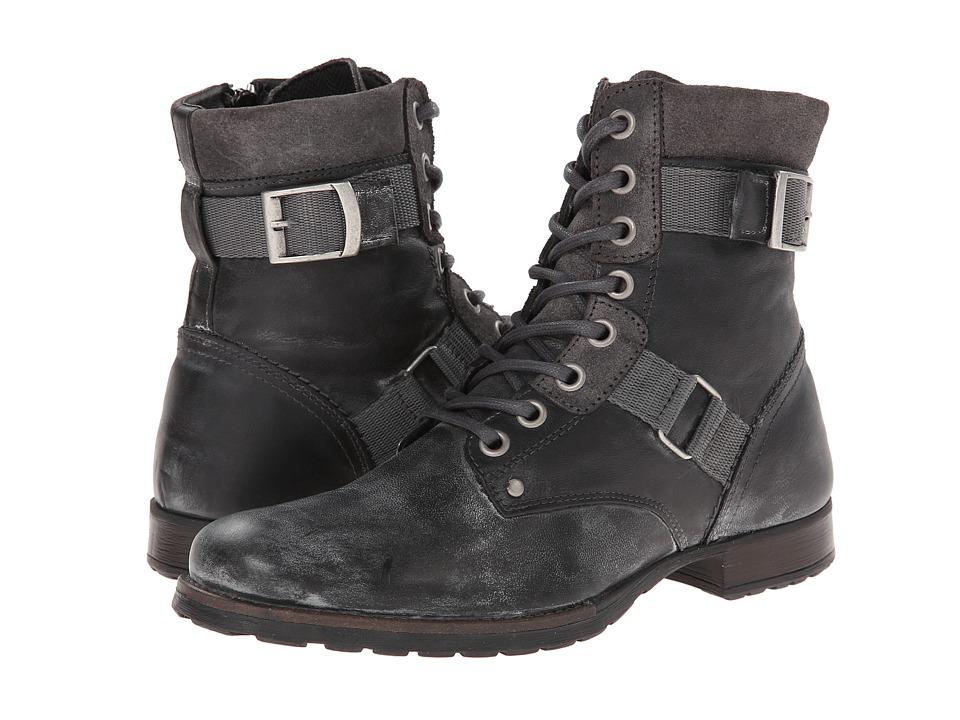 Type Z - Randal (Black Leather) Men's Zip Boots