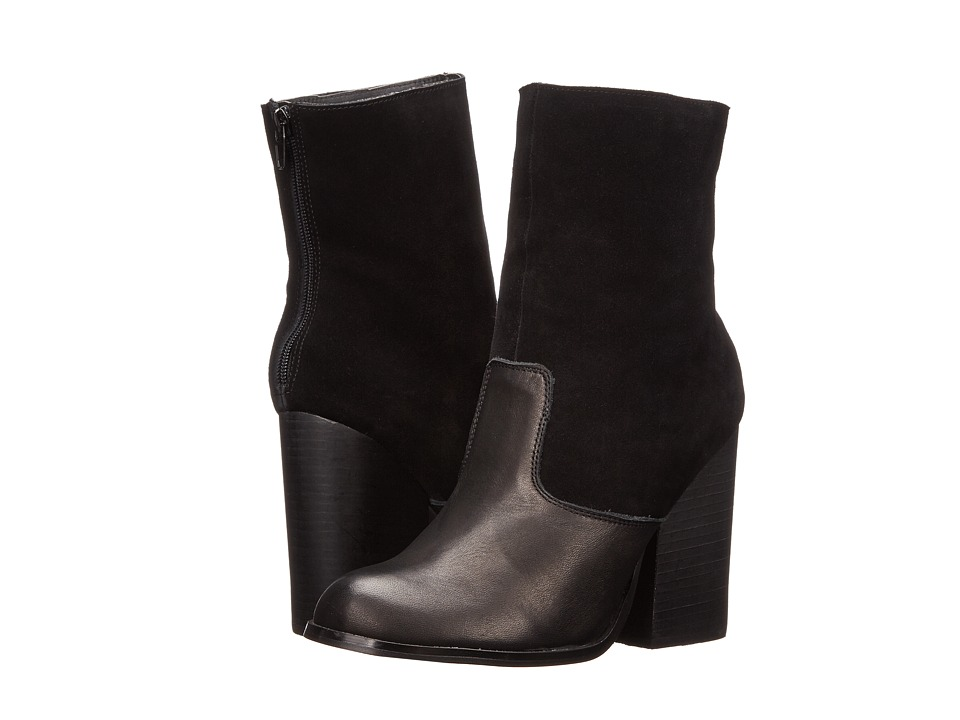 Type Z - Teala (Black Leather) Women's Zip Boots
