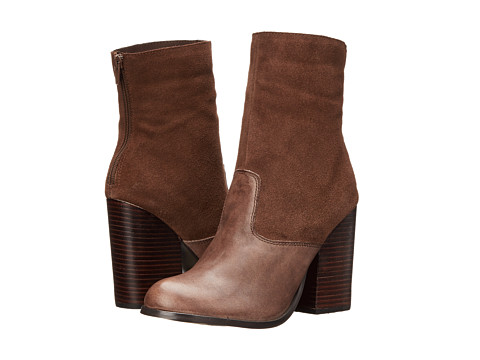 Type Z - Teala (Brown Leather) Women's Zip Boots