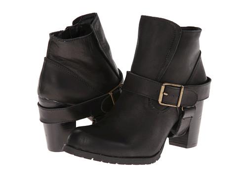 Type Z - Edword (Black Leather) Women's Zip Boots