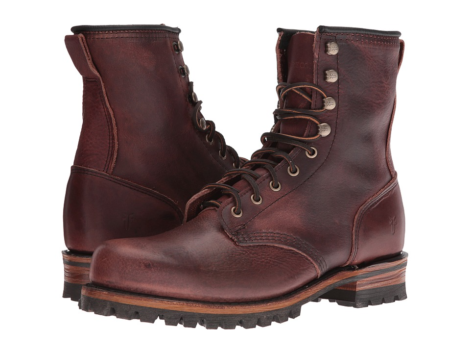 Frye - Logger (Chestnut Tumbled Leather) Men's Lace-up Boots