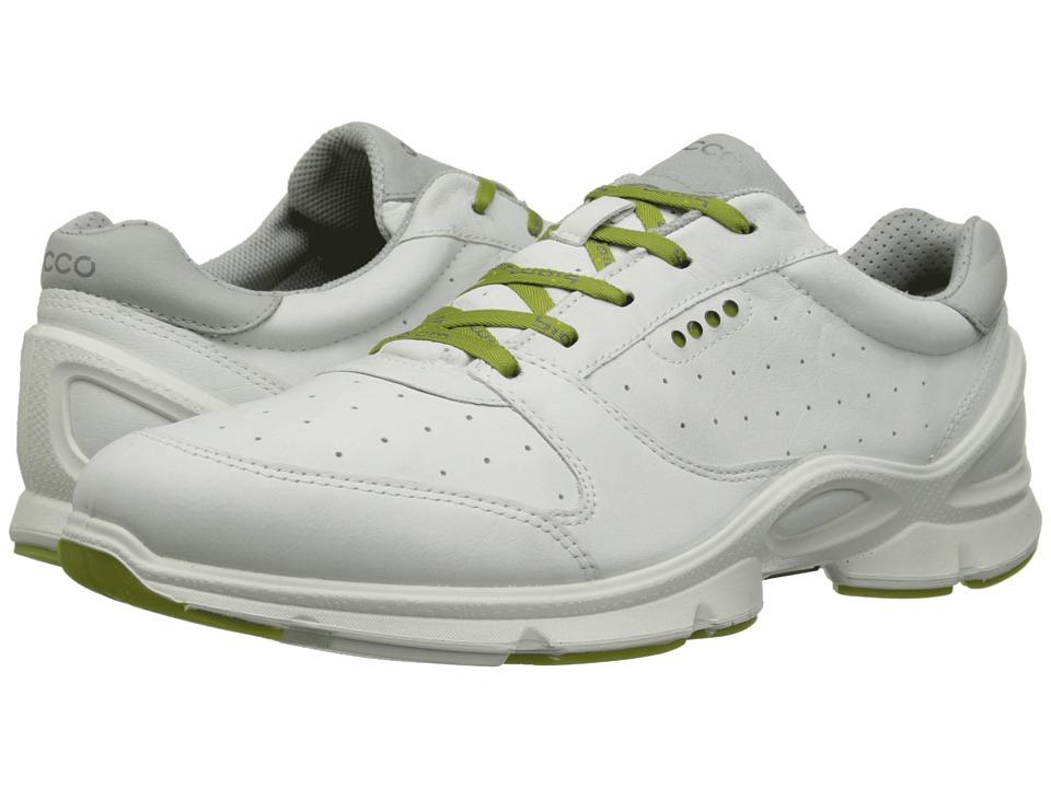 ECCO Sport - Biom Evo Trainer Sport (White/Concrete) Men's Walking Shoes