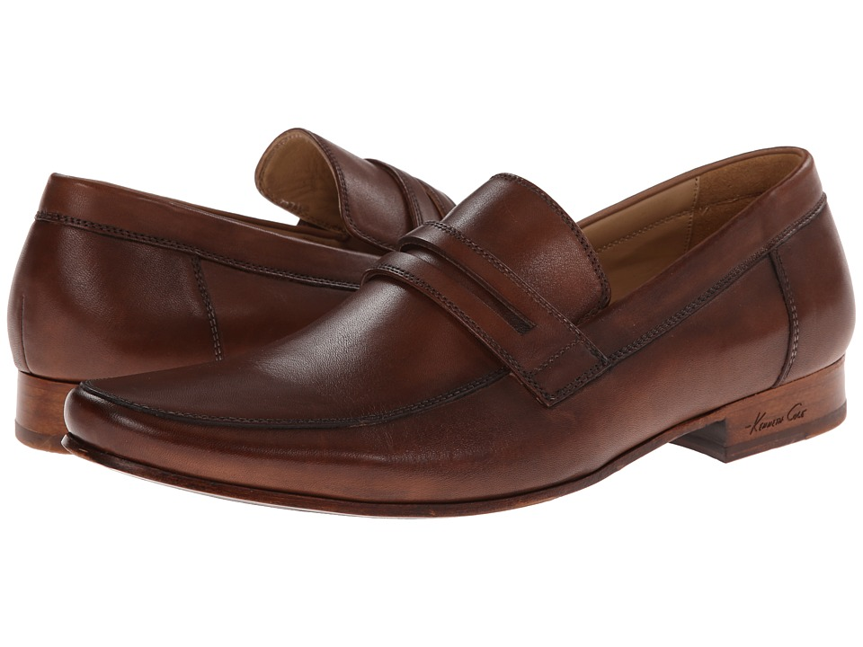Kenneth Cole New York - Plug Of War (Cognac) Men's Slip on Shoes
