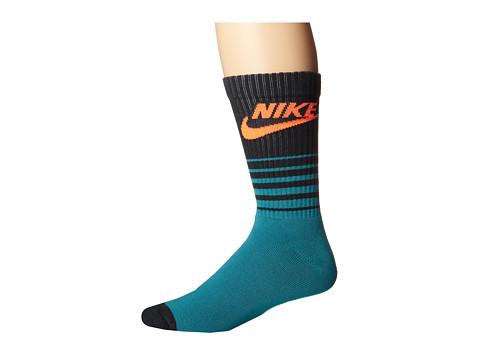 Nike - NSW Classic Striped HBR Sock (Catalina/Seaweed/Hyper Crimson) Men