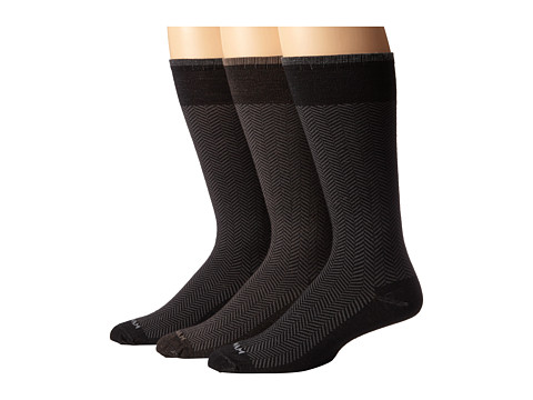 Wigwam - Landon 3-Pair Pack (Taupe/Black/Black) Men's Crew Cut Socks Shoes