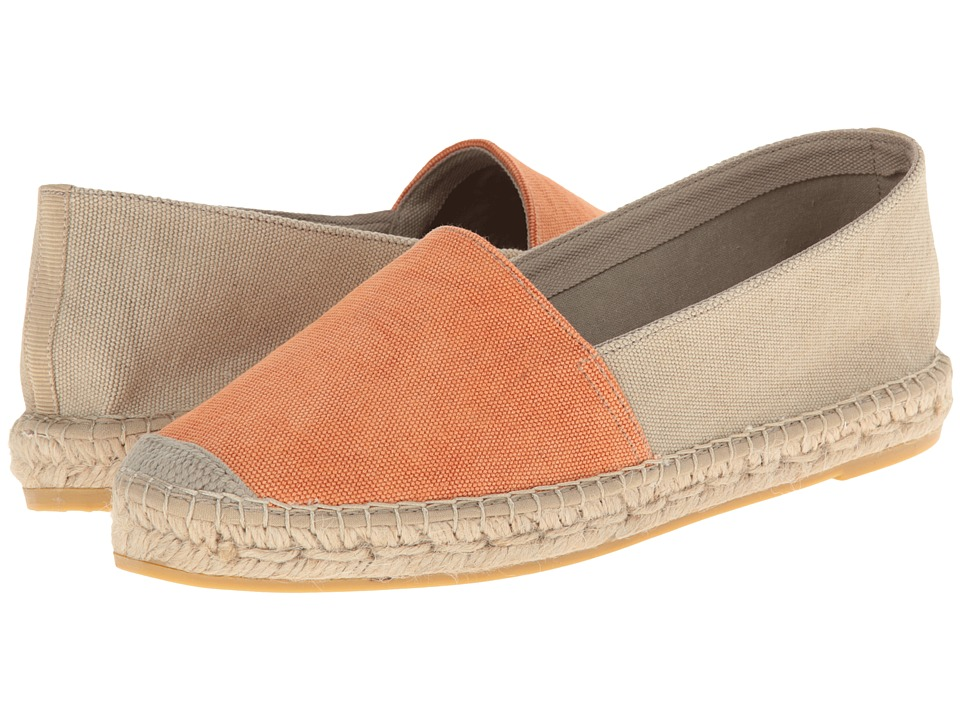 Vidorreta - Jam (Orange/Taupe Lona Lavada Naranja/Topo) Women's Slip on Shoes