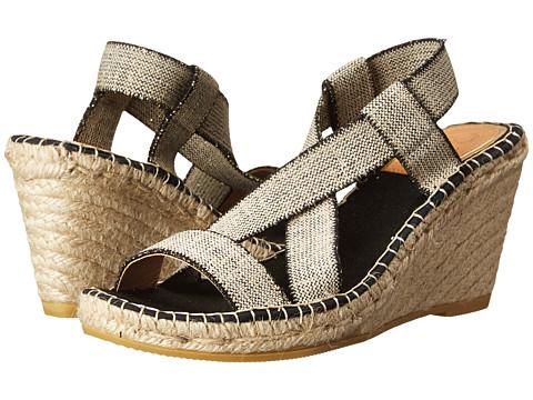 Vidorreta - Febe (Black Elastico Lino Metal Negro) Women's Shoes