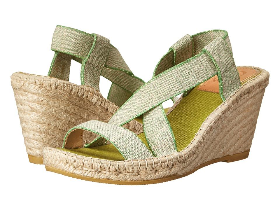 Vidorreta - Febe (Green Elastico Lino Metal Verde) Women's Shoes