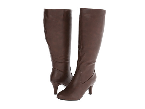Annie - Rana Extra Wide Calf (Brown Fabric) Women
