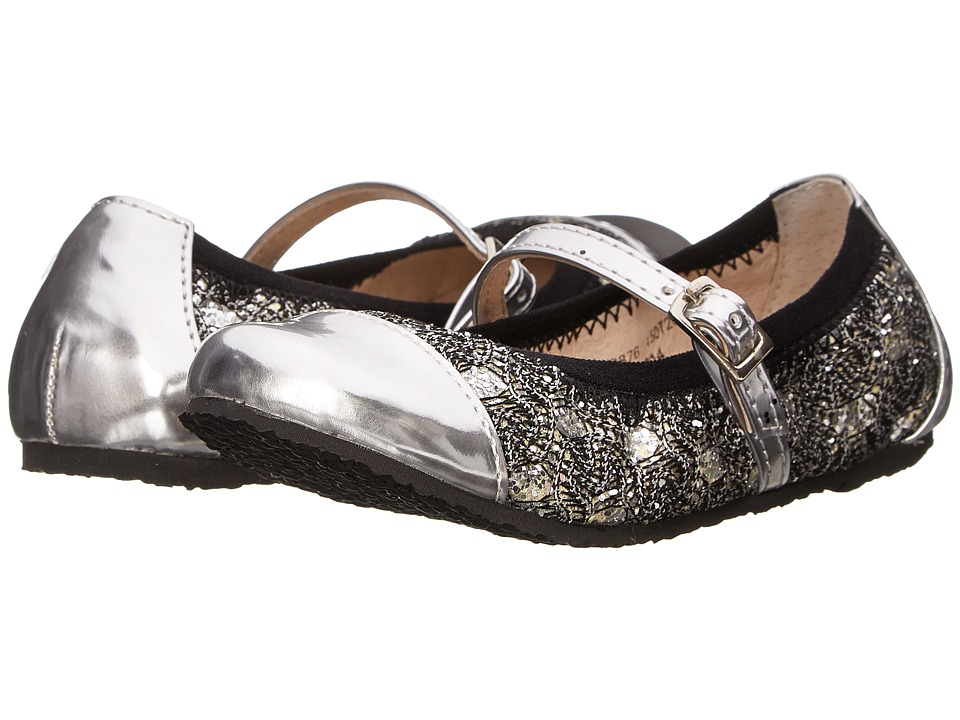 Amiana 6-A0876 (Toddler/Little Kid/Big Kid/Adult) (Silver Sequin Lace) Girl