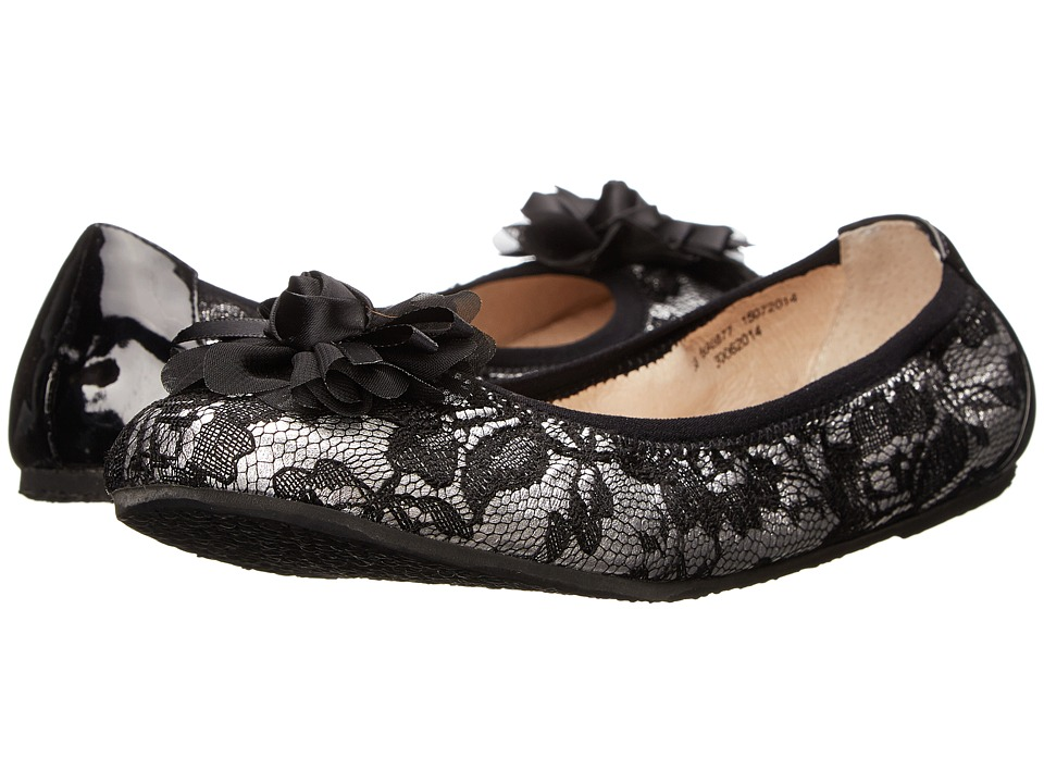 Amiana 6-A0877 (Toddler/Little Kid/Big Kid/Adult) (Black/Pewter Lace) Girl