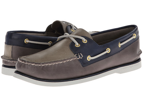 Sperry Top-Sider - Gold A/O 2-Eye (Grey/Blue) Men's Slip on Shoes