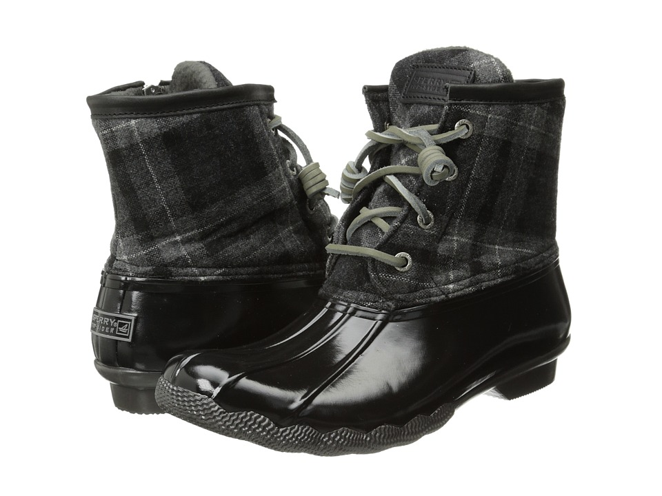 Sperry Top-Sider - Saltwater (Black/Grey Plaid) Women's Lace-up Boots