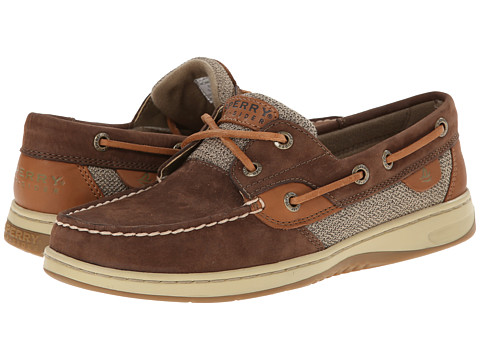 Sperry Top-Sider - Bluefish 2-Eye (Brown Washable) Women's Slip on Shoes