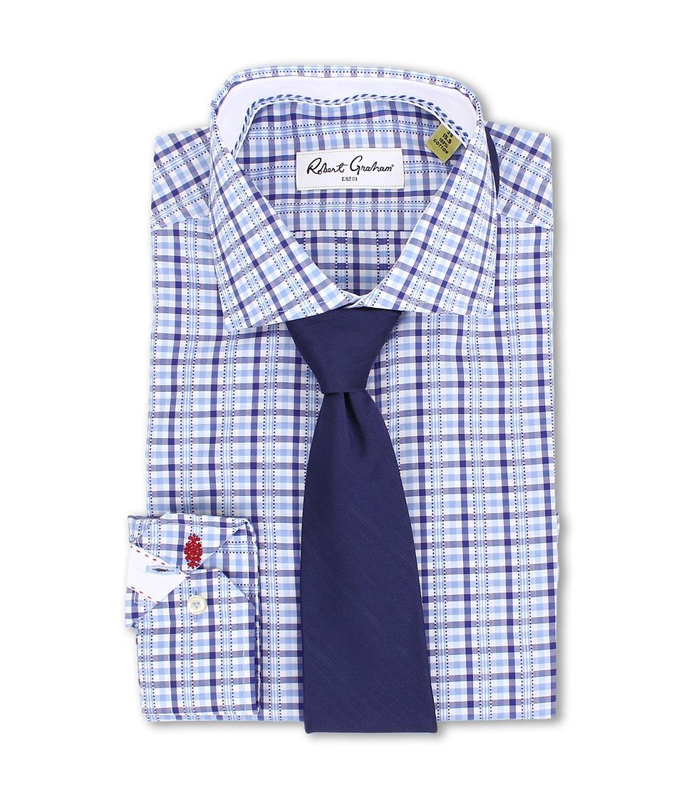 Robert Graham - Darren Dress Shirt (Blue) Men's Long Sleeve Button Up