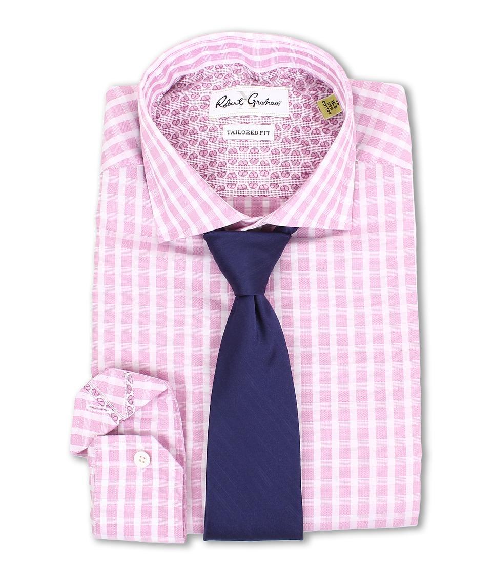 Robert Graham - X Tailored Fit Bolzano Dress Shirt (Pink) Men's Long Sleeve Button Up