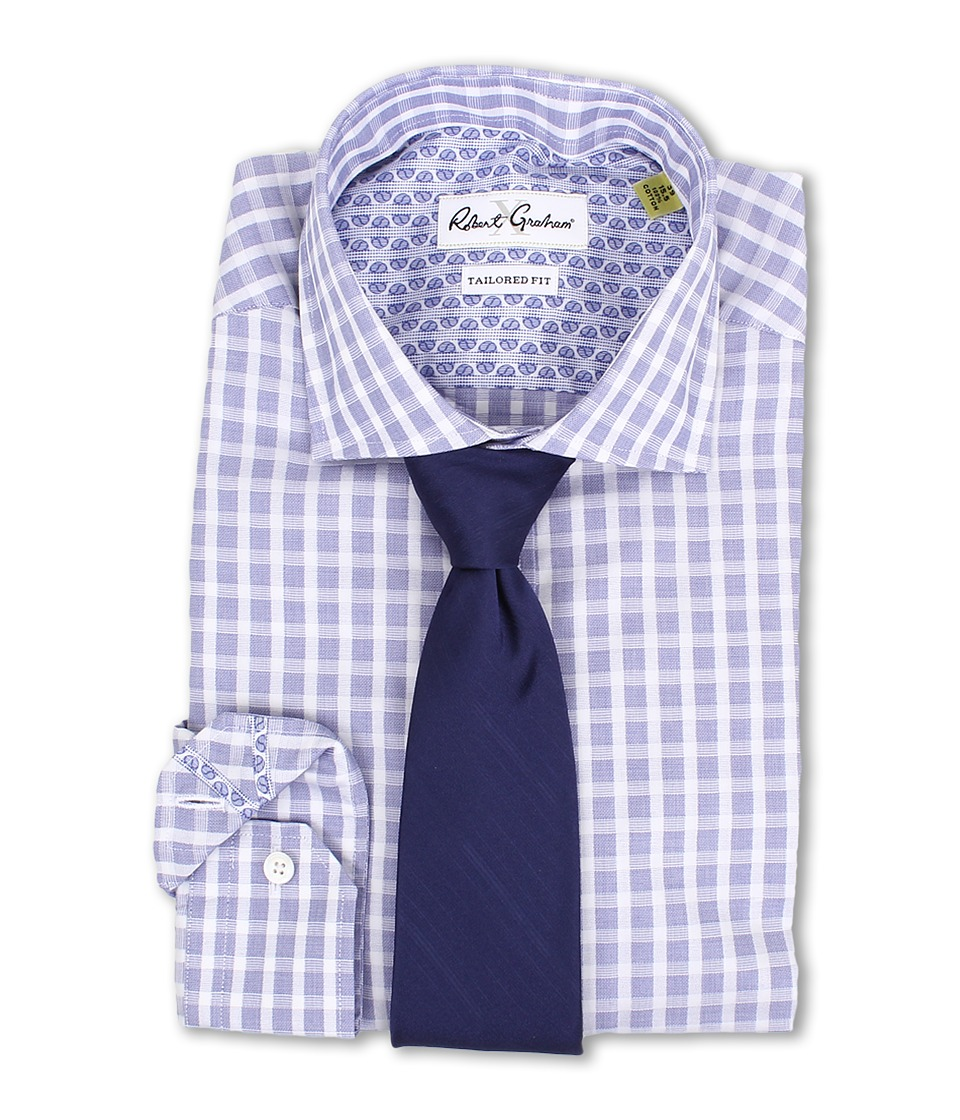 Robert Graham - X Tailored Fit Bolzano Dress Shirt (Navy) Men