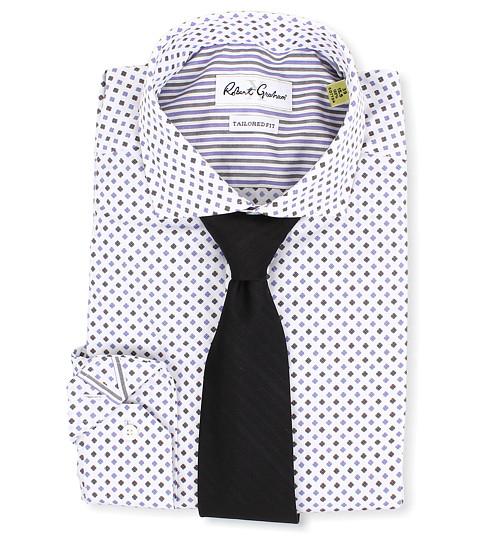 Robert Graham - X Tailored Fit Bitonto Dress Shirt (Purple) Men's Long Sleeve Button Up